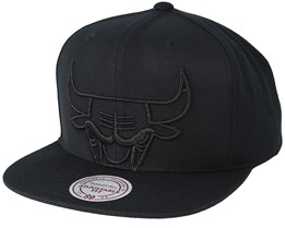 Chicago Bulls Metallic Tc Cropped Black/Black Snapback - Mitchell & Ness