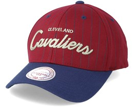 Cleveland Cavaliers Pinstripe Burgundy Adjustable - Mitchell & Ness