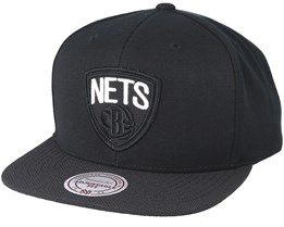 Brooklyn Nets Full Dollar Black Snapback - Mitchell & Ness