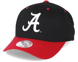 Alabama Crimson Tide Team Logo 2-Tone 110 Black Adjustable - Mitchell & Ness