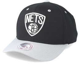 Brooklyn Nets Team Logo 2-Tone 110 Black Snapback - Mitchell & Ness
