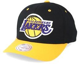 LA Lakers Team Logo 2-Tone 110 Black Adjustable - Mitchell & Ness