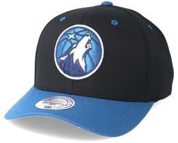 Minnesota Timberwolves Team Logo Low Profile Black Adjustable - Mitchell & Ness