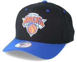 New York Knicks Team Logo 2-Tone 110 Black Adjustable - Mitchell & Ness