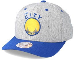 Golden State Warriors Team 2 Logo 2-Tone 110 Royal Adjustable - Mitchell & Ness