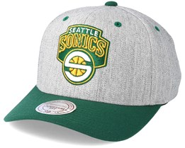 Seattle Supersonics Team Logo 2-Tone Grey/Green Adjustable - Mitchell & Ness