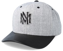 Vintage Top Shelf Curve Grey Adjustable - Mitchell & Ness
