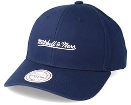 Team Logo Low Profile Blue Snapback - Mitchell & Ness