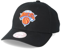New York Knicks Team Logo Low Profile Black Adjustable - Mitchell & Ness