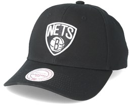 Brooklyn Nets Team Logo Low Profile Black Snapback  - Mitchell & Ness