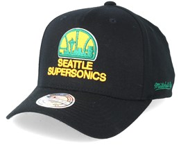 Seattle Supersonics Eazy Black 110 Adjustable - Mitchell & Ness