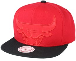 Chicago Bulls Cropped Satin Red Snapback - Mitchell & Ness