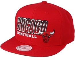 Chicago Bulls Score Keeper Red Snapback - Mitchell & Ness