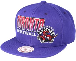 Toronto Raptors Score Keeper Purple Snapback - Mitchell & Ness