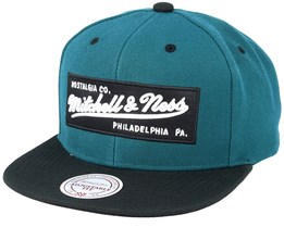 Box Logo Dark Green Snapback - Mitchell & Ness