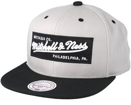 Box Logo Grey Snapback - Mitchell & Ness