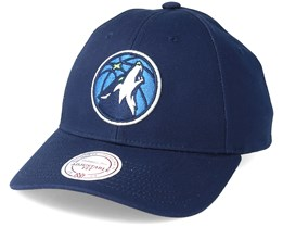 Minnesota Timberwolves Team Logo 2-Tone 110 Black Adjustable - Mitchell & Ness