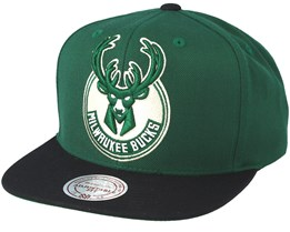 Milwaukee Bucks XL Logo 2 Tone Green Snapback - Mitchell & Ness