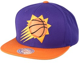 Phoenix Suns XL Logo 2 Tone Orange/Purple Snapback - Mitchell & Ness