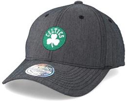 Boston Celtics Poly Heringbone Grey 110 Adjustable - Mitchell & Ness