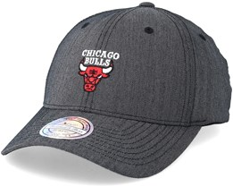 Chicago Bulls Poly Heringbone Grey 110 Adjustable - Mitchell & Ness
