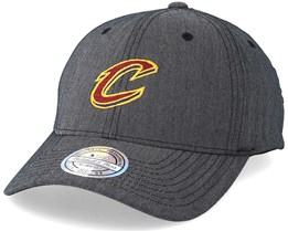 Cleveland Cavaliers Poly Heringbone Grey 110 Adjustable - Mitchell & Ness