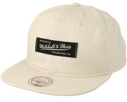 Own Brand Low Profile Cream Strapback - Mitchell & Ness
