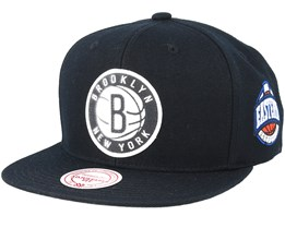 Brooklyn Nets Silicon Grass Hwc Black Snapback - Mitchell & Ness