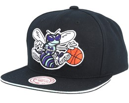 Charlotte Hornets Dark Hologram II Hwc Black Snapback - Mitchell & Ness