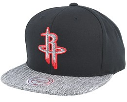 Houston Rockets Woven Tc Black Snapback - Mitchell & Ness