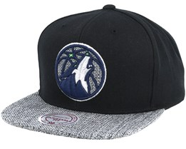 Minnesota Timberwolves Woven Tc Black Snapback - Mitchell & Ness