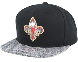New Orleans Pelicans Woven Tc Black Snapback - Mitchell & Ness