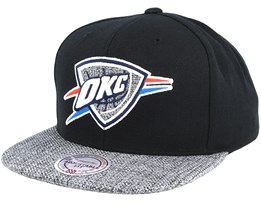 Oklahoma City Thunder Woven Tc Black Snapback - Mitchell & Ness