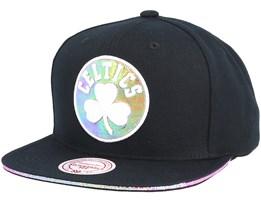 Boston Celtics Dark Hologram II Hwc Black Snapback - Mitchell & Ness