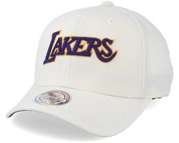 LA Lakers Courtside 2 Cream 110 Adjustable - Mitchell & Ness