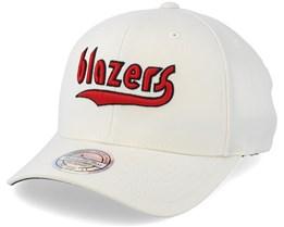 Portland Trail Blazers Courtside 2 Cream 110 Adjustable - Mitchell & Ness