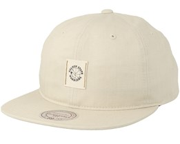 Golden State Warriors Low Pro Cream Snapback - Mitchell & Ness