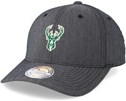 Milwaukee Bucks Heringbone Grey 110 Adjustable - Mitchell & Ness