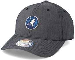 Minnesota Timberwolves Heringbone Grey 110 Adjustable - Mitchell & Ness