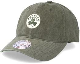 Boston Celtics Workmens Strapback Olive Adjustable - Mitchell & Ness