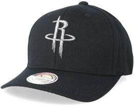 Houston Rockets Melange Logo 110 Black Adjustable - Mitchell & Ness