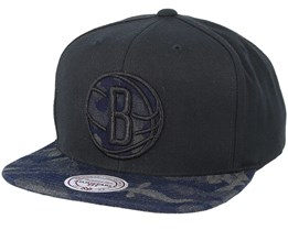 Brooklyn Nets Denim Black/Camo Snapback - Mitchell & Ness