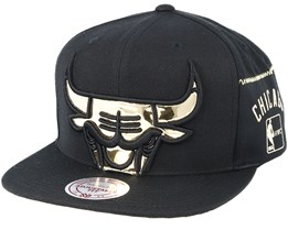 Chicago Bulls Patent Cropped Black Snapback - Mitchell & Ness