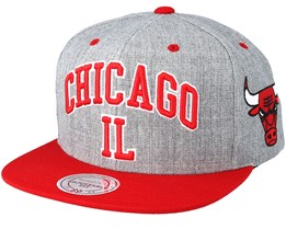 Chicago Bulls Side Panel Cropped Grey Snapback - Mitchell & Ness
