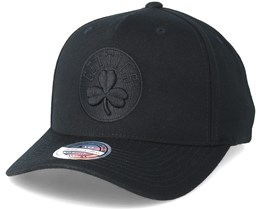 Boston Celtics Curved Black/Black 110 Adjustable - Mitchell & Ness