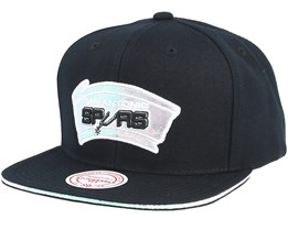 San Antonio Spurs Dark Hologram II Hwc Black Snapback - Mitchell & Ness