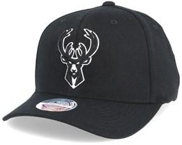 Milwaukee Bucks Black & White 110 Adjustable - Mitchell & Ness