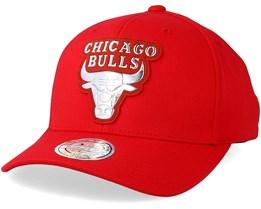 Chicago Bulls Metallic Logo Red 110 Adjustable - Mitchell & Ness