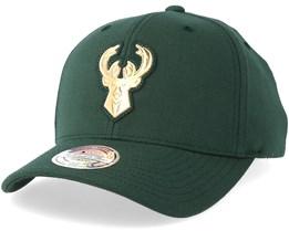 Milwaukee bucks Metallic Logo Green 110 Adjustable - Mitchell & Ness