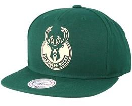 Milwaukee bucks Raised Perimeter Green Snapback - Mitchell & Ness